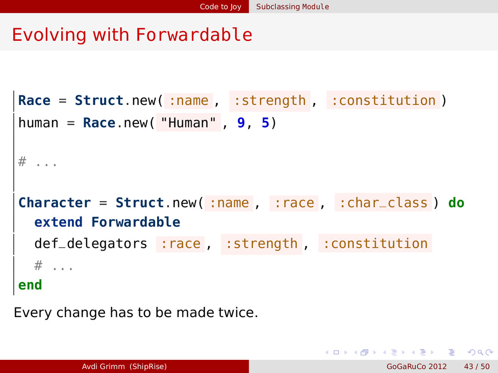 Code to Joy Subclassing Module Evolving with Fo...