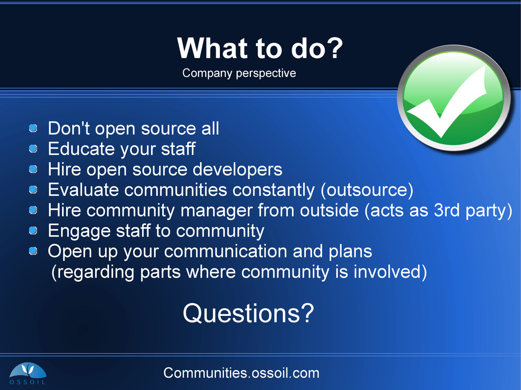 Communities.ossoil.com What to do? Don't open s...
