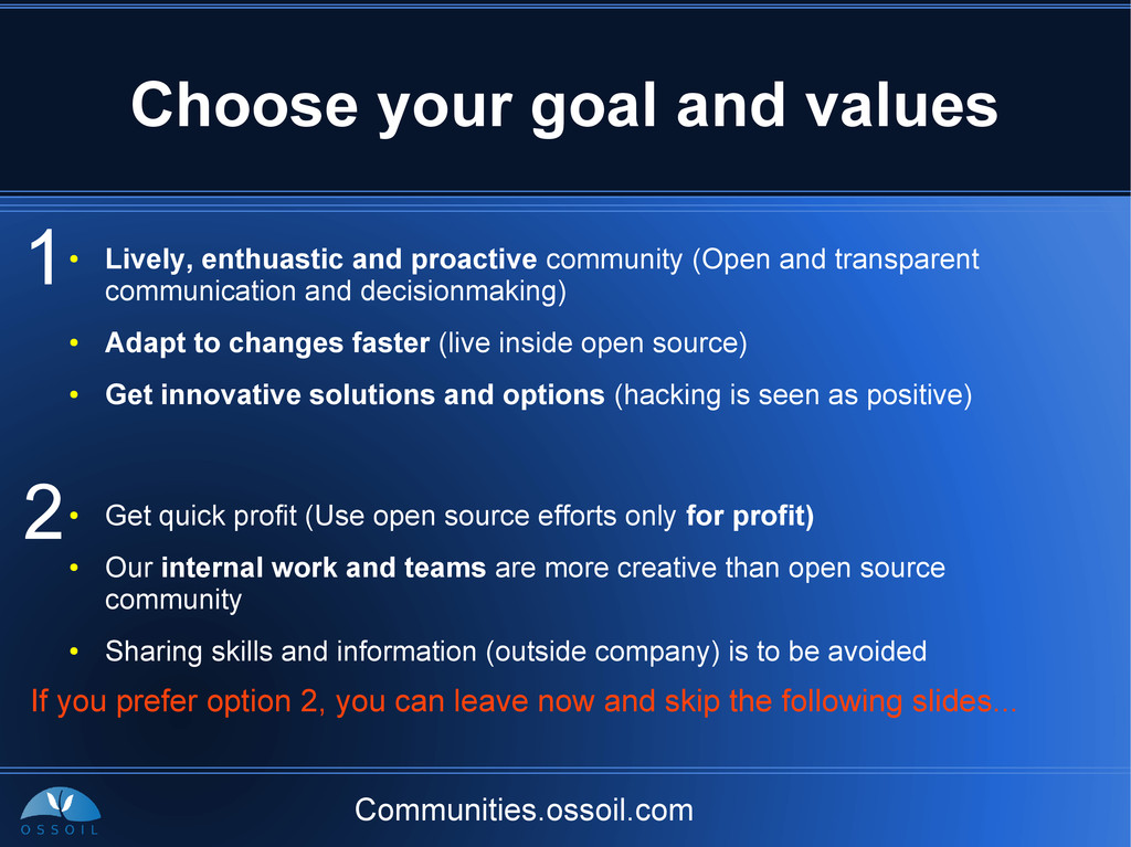 Communities.ossoil.com Choose your goal and val...