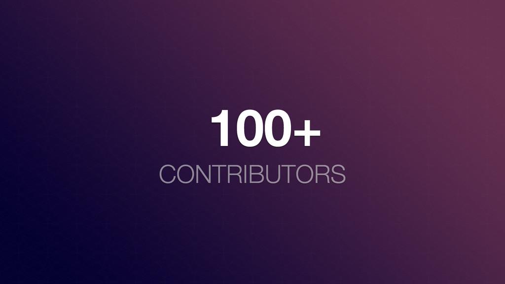 100+ CONTRIBUTORS