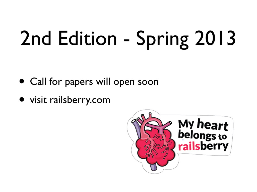 2nd Edition - Spring 2013 • Call for papers wil...