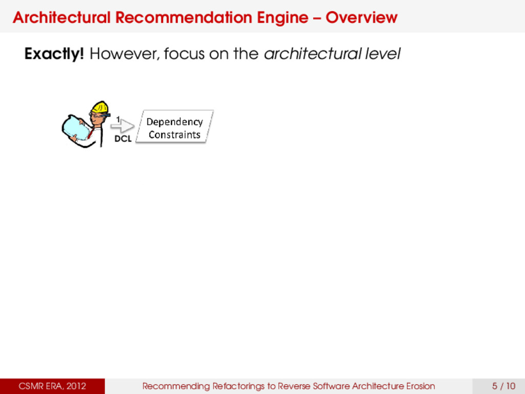 Architectural Recommendation Engine – Overview ...