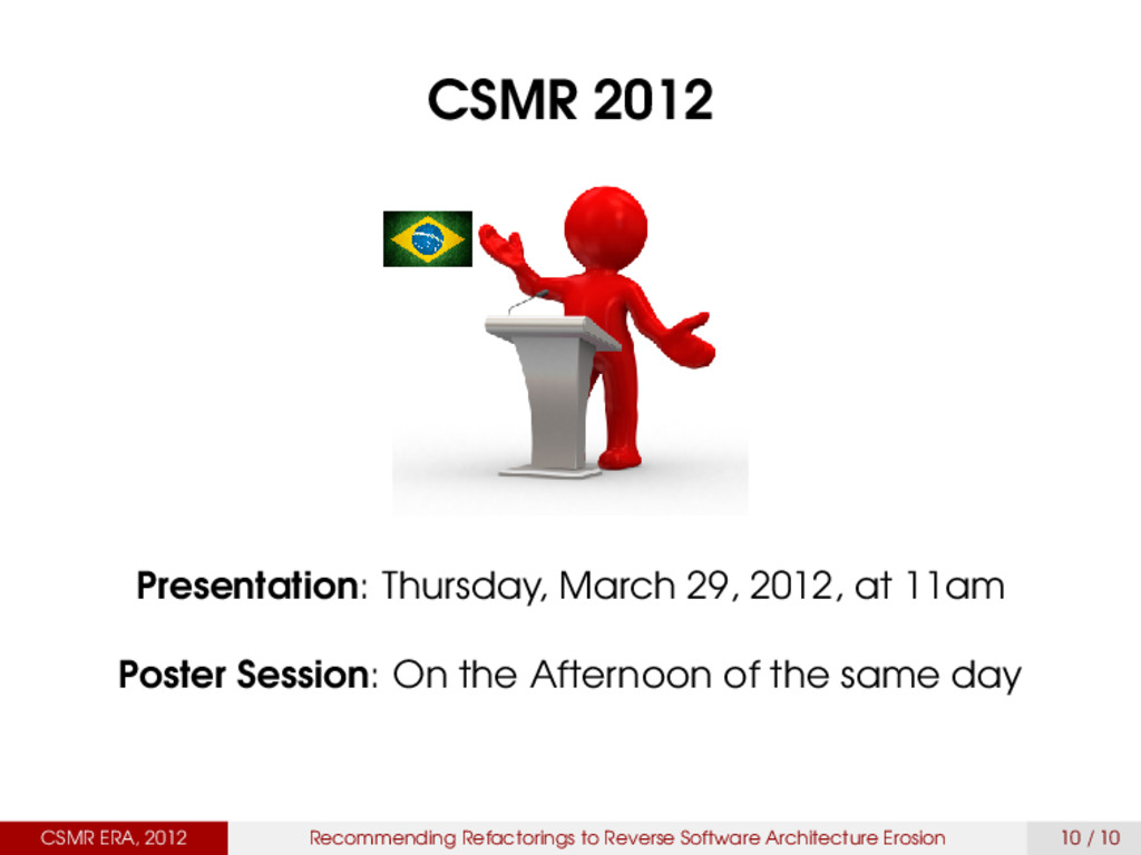 CSMR 2012 Presentation: Thursday, March 29, 201...