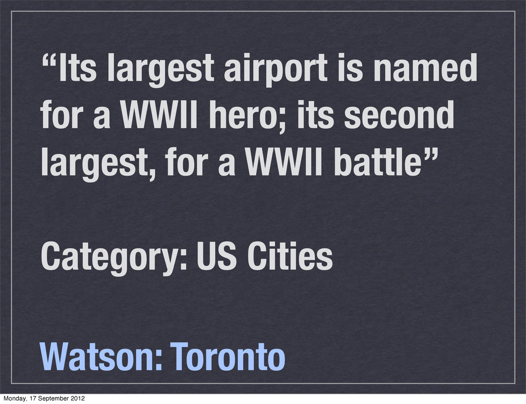 """""""Its largest airport is named for a WWII hero; ..."""