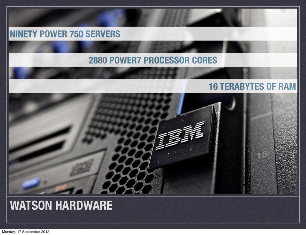 WATSON HARDWARE NINETY POWER 750 SERVERS 2880 P...