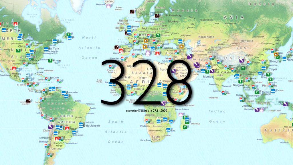 328 activations depuis le 27.11.2000