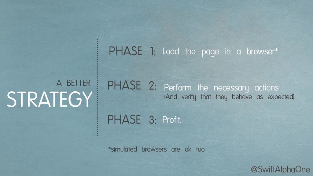 @SwiftAlphaOne A BETTER STRATEGY PHASE 1: PHASE...