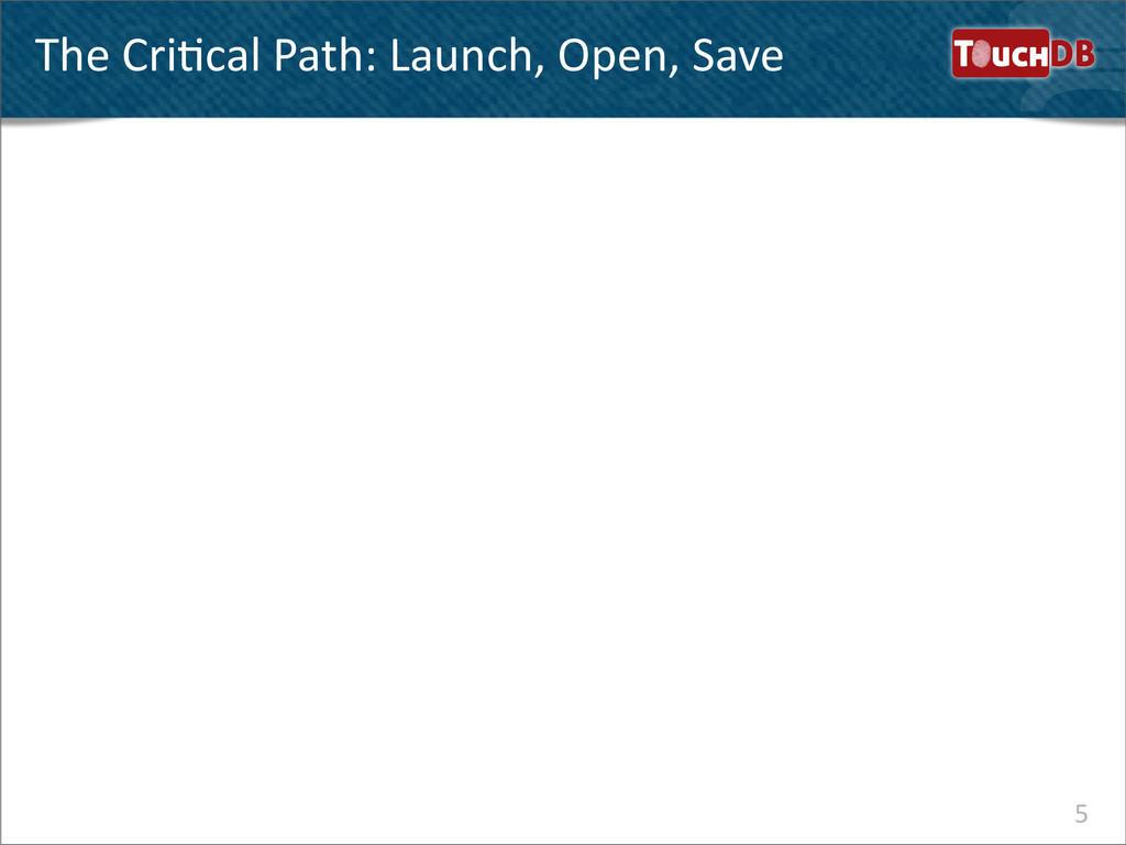 TouchDB The CriNcal Path: Launch, O...