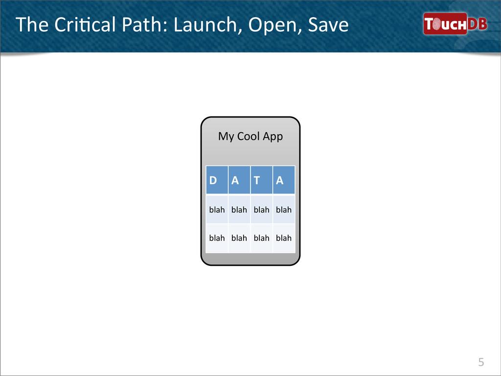 My Cool App TouchDB The CriNcal Pat...