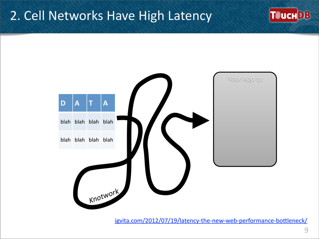 TouchDB 2. Cell Networks Have High...