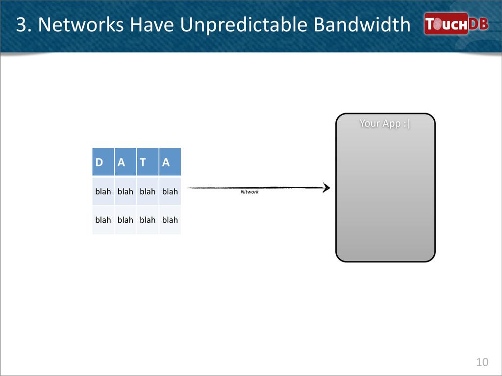 TouchDB 3. Networks Have Unpredictable...