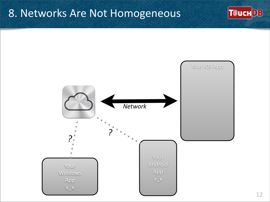 TouchDB 8. Networks Are Not Homogen...