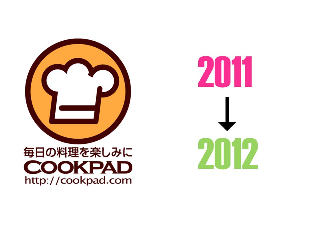 2011 ↓ 2012