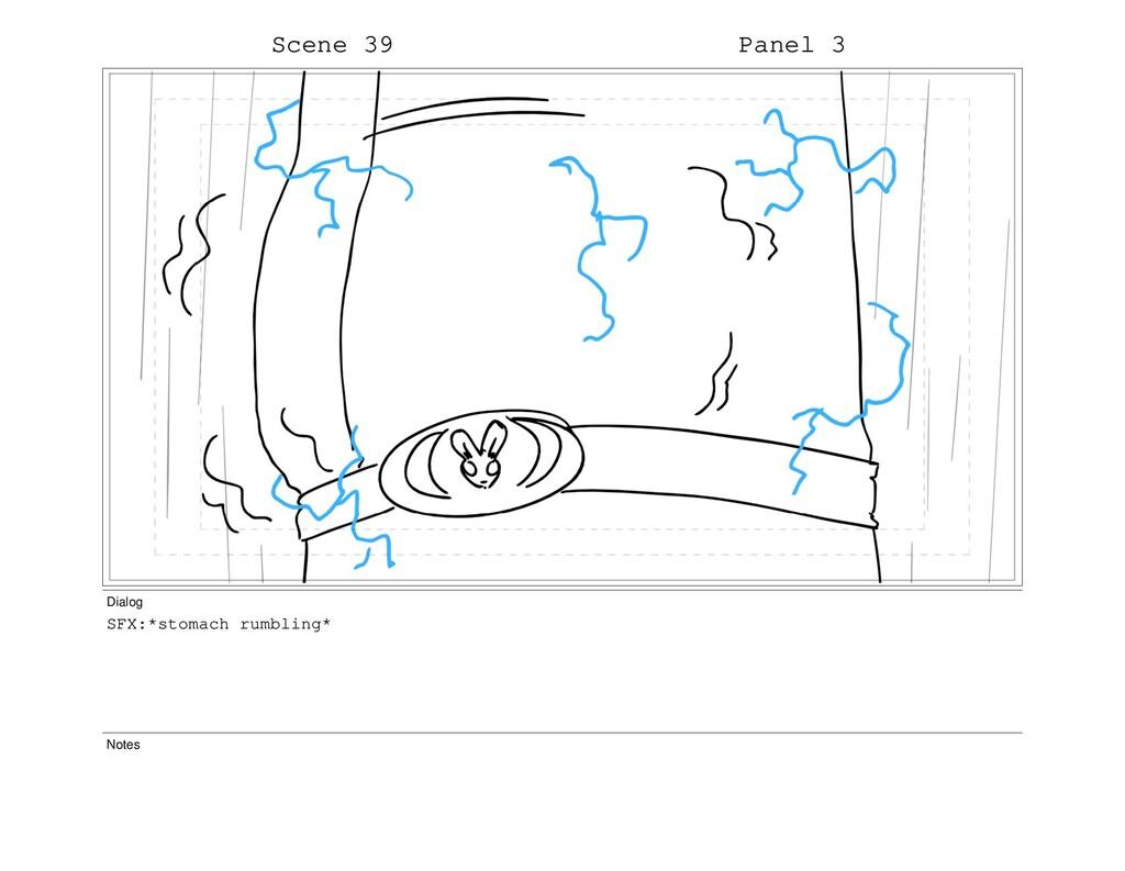Scene 39 Panel 3 Dialog SFX:*stomach rumbling* ...