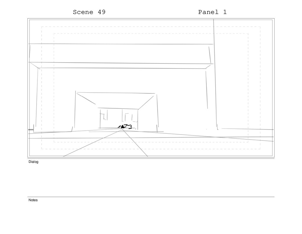 Scene 49 Panel 1 Dialog Notes
