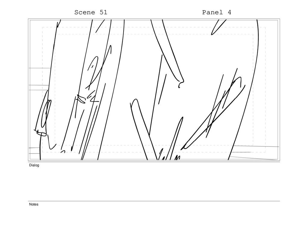 Scene 51 Panel 4 Dialog Notes