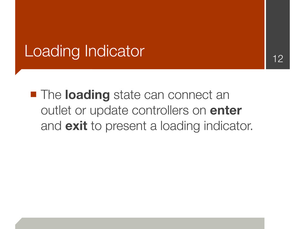 Loading Indicator ■ The loading state can conne...