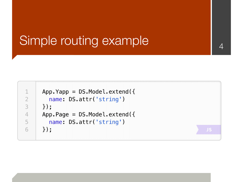 4 Simple routing example