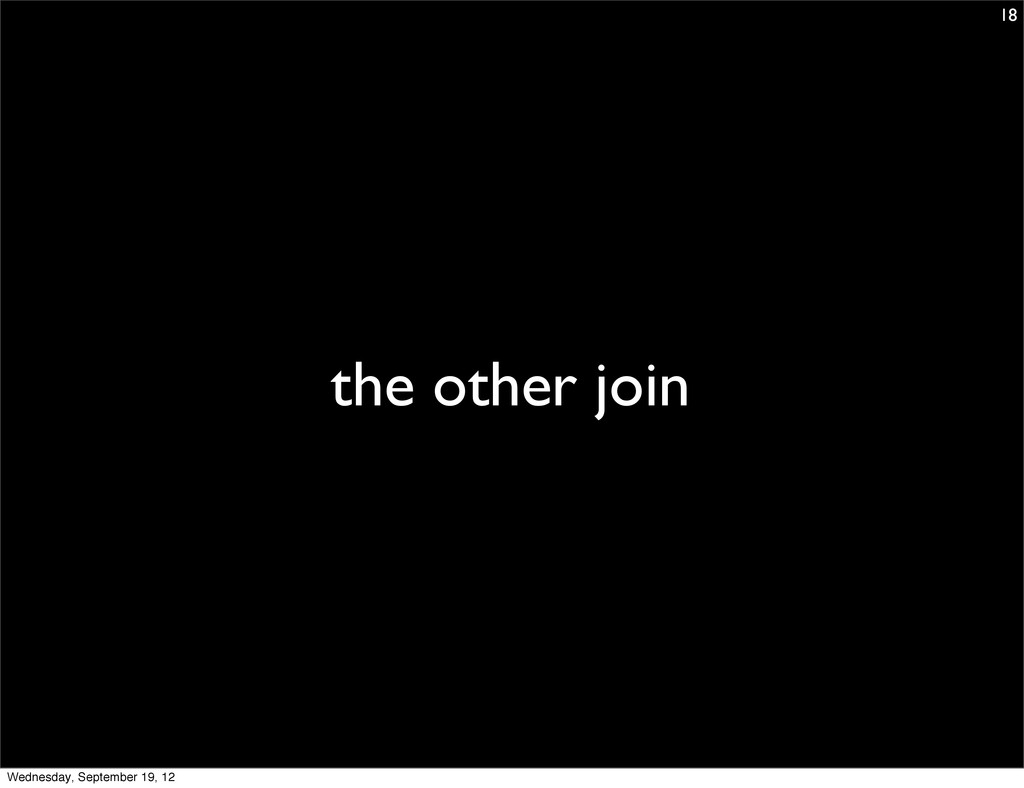 the other join 18 Wednesday, September 19, 12
