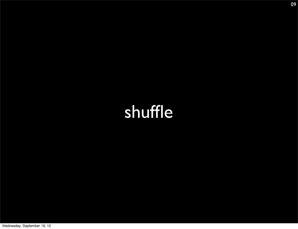 shuffle 09 Wednesday, September 19, 12