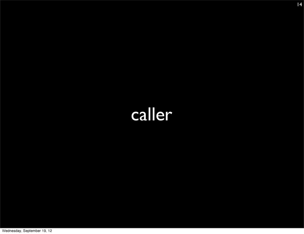 caller 14 Wednesday, September 19, 12