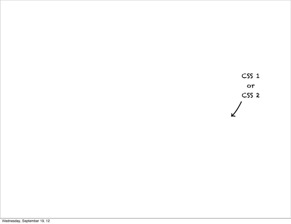 CSS Properties CSS 1 or CSS 2 Wednesday, Septem...