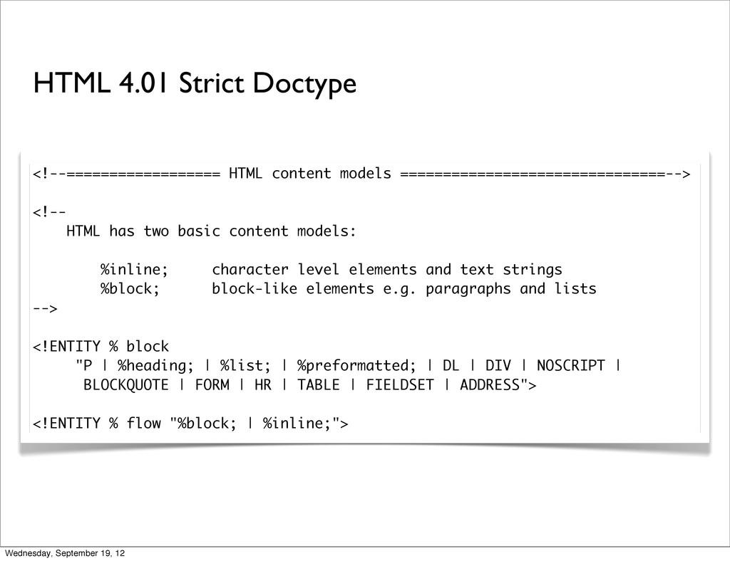 <!--================== HTML content models ====...