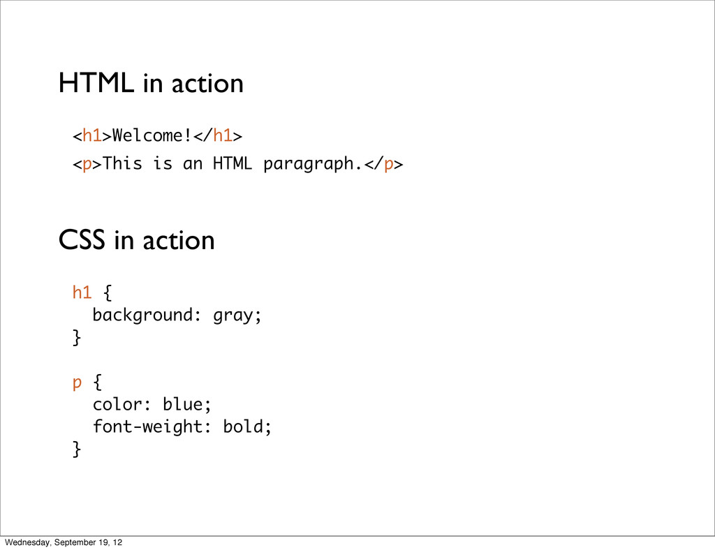 <p>This is an HTML paragraph.</p> <h1>Welcome!<...