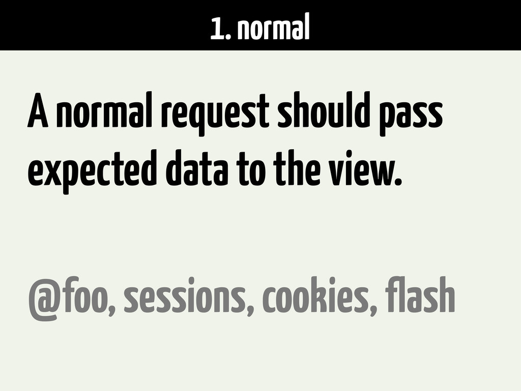 1. normal A normal request should pass expected...