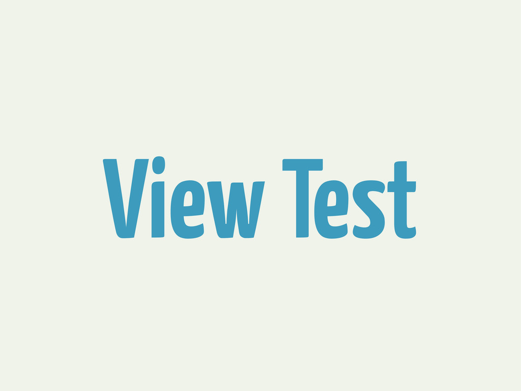 View Test