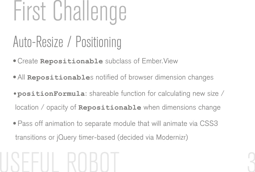 First Challenge Auto-Resize / Positioning • Cre...