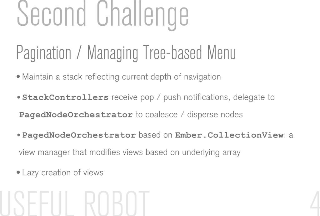 Second Challenge Pagination / Managing Tree-bas...