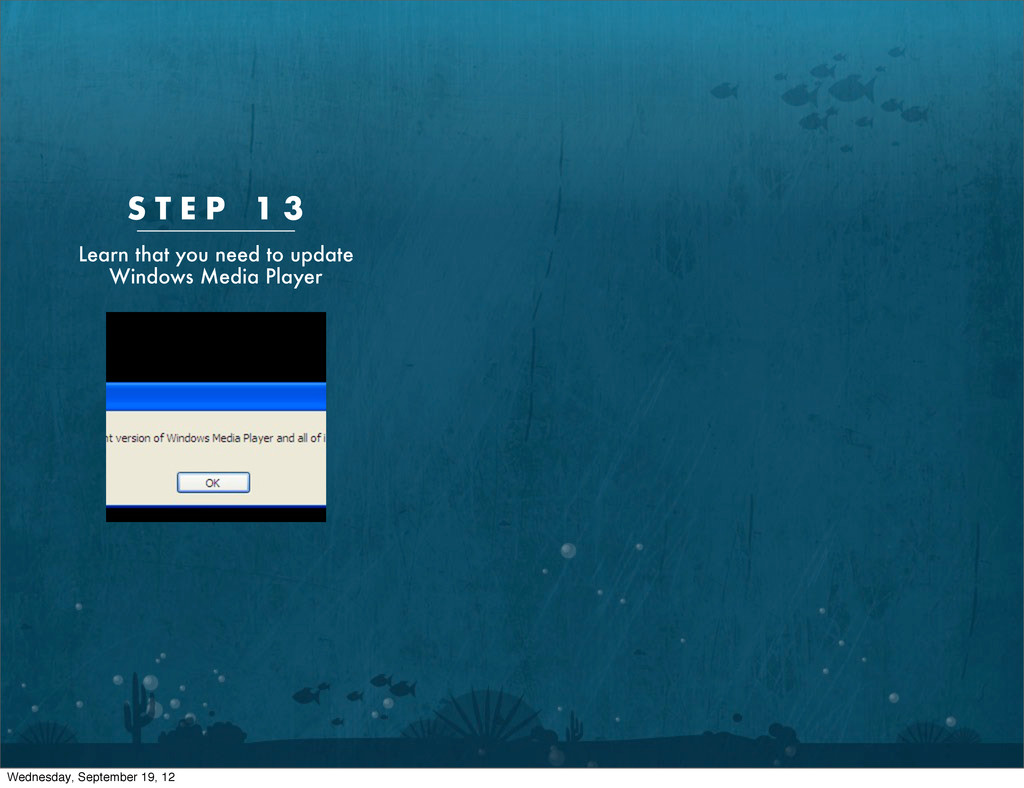 S T E P 1 3 Learn that you need to update Windo...