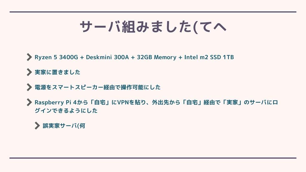 Ryzen 5 3400G + Deskmini 300A + 32GB Memory + I...