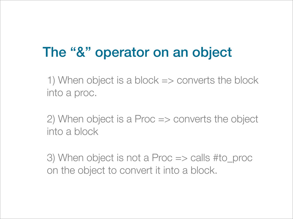 """The """"&"""" operator on an object 1) When object is..."""