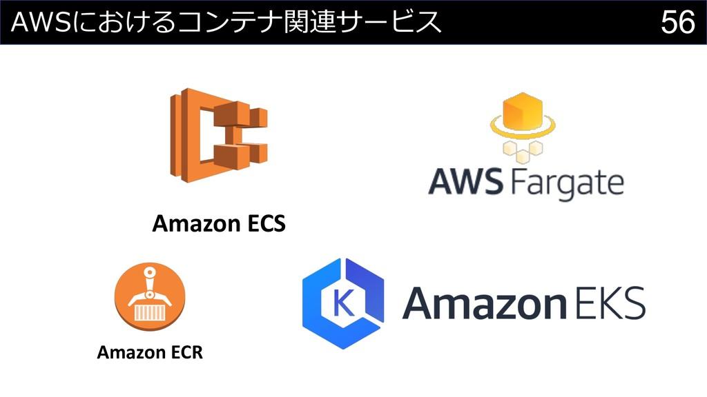 56    Amazon ECS Amazon ECR