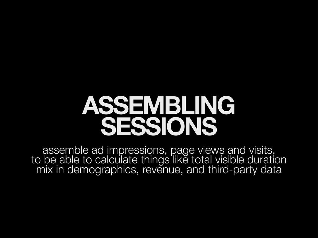 ASSEMBLING SESSIONS assemble ad impressions, pa...