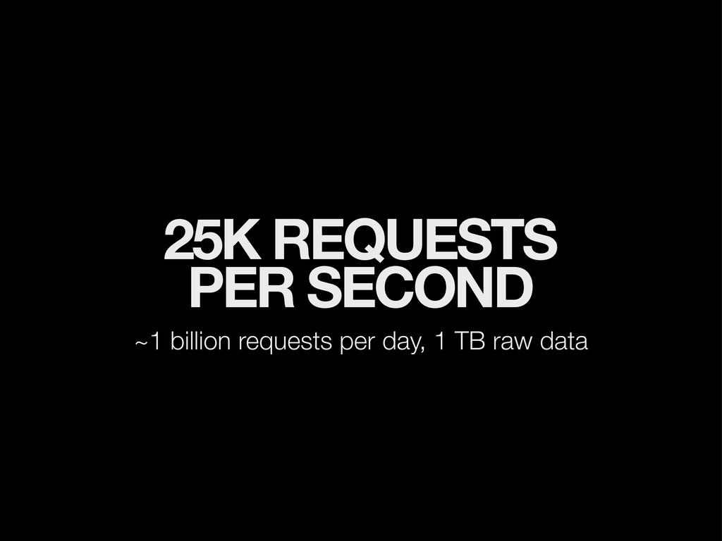 25K REQUESTS PER SECOND ~1 billion requests per...