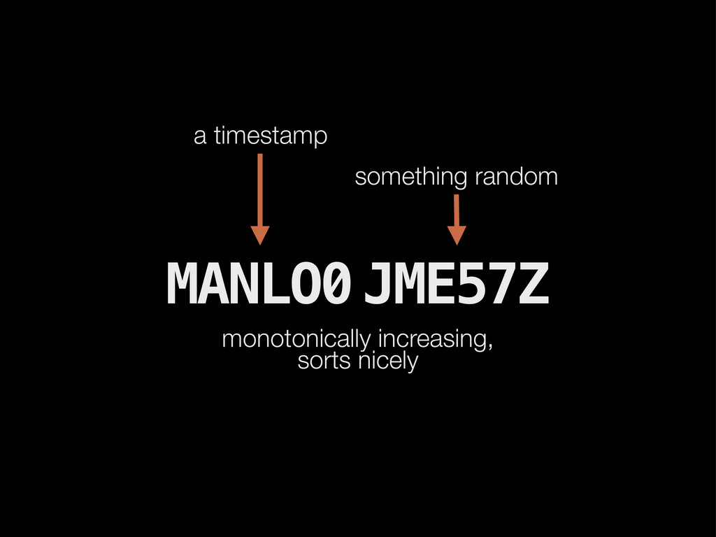 MANLO0 JME57Z monotonically increasing, sorts n...