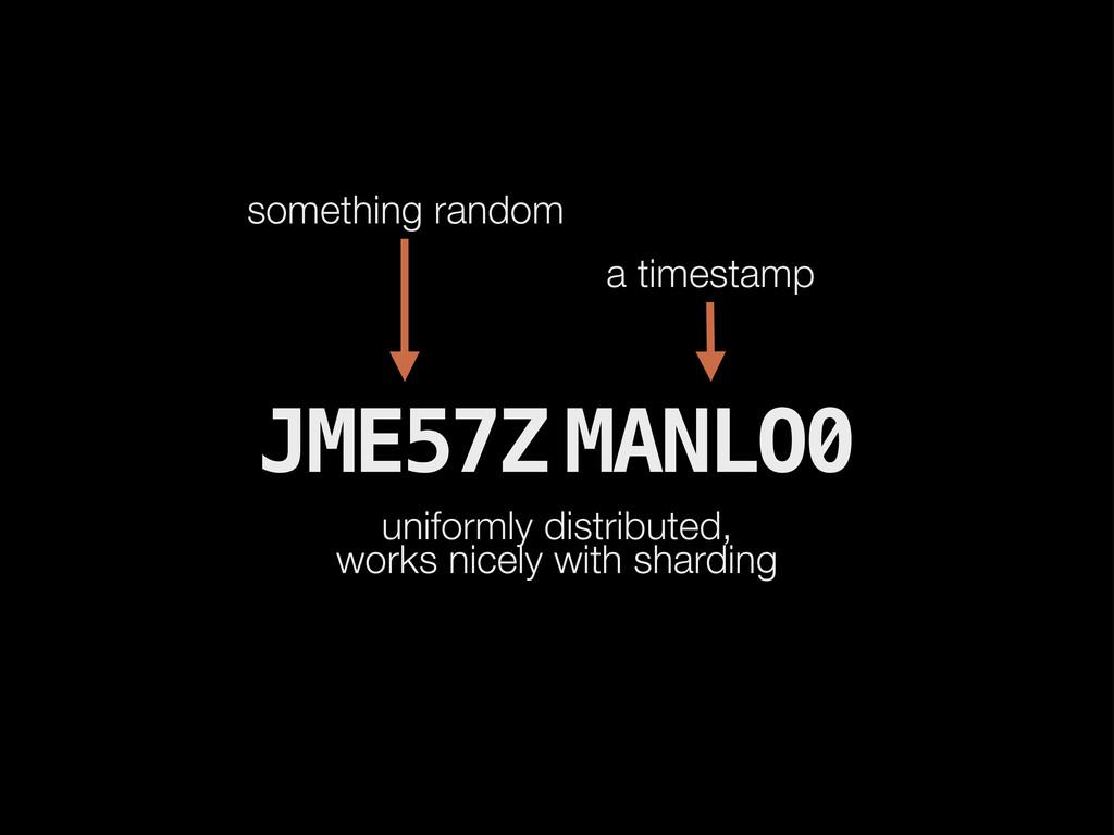 JME57Z MANLO0 uniformly distributed, works nice...
