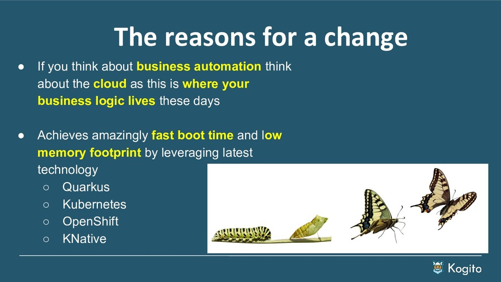 ● If you think about business automation think ...