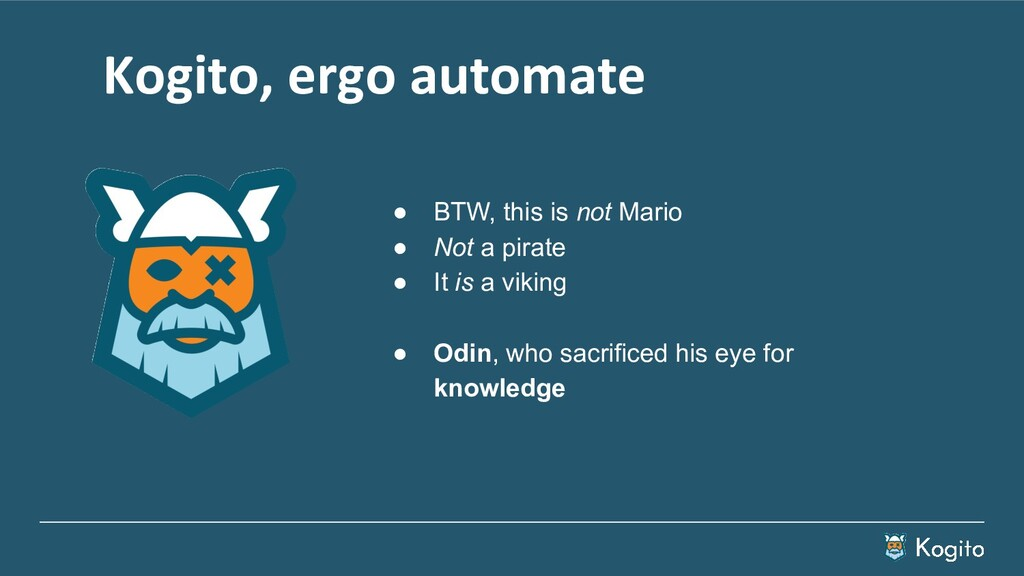 Kogito, ergo automate ● BTW, this is not Mario ...