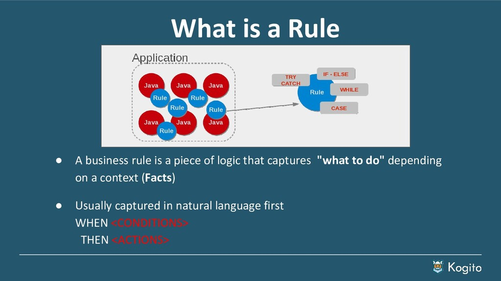 What is a Rule ● A business rule is a piece of ...