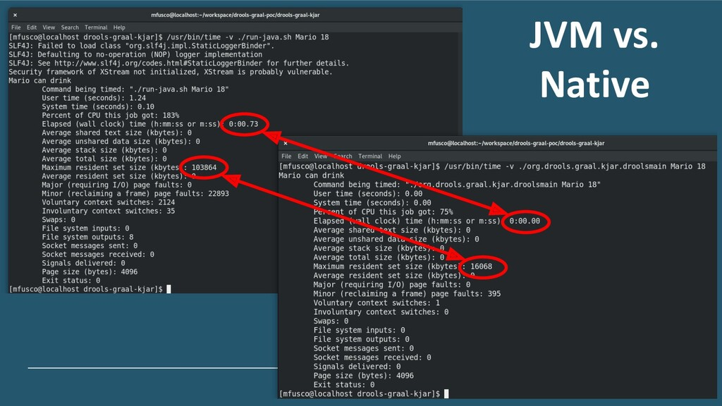 JVM vs. Native
