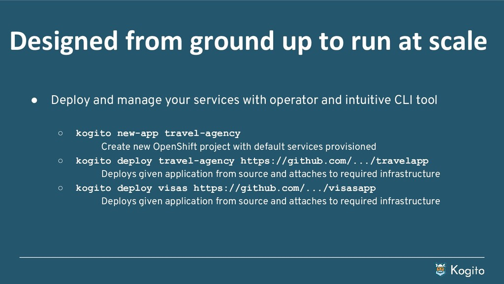 ● Deploy and manage your services with operator...