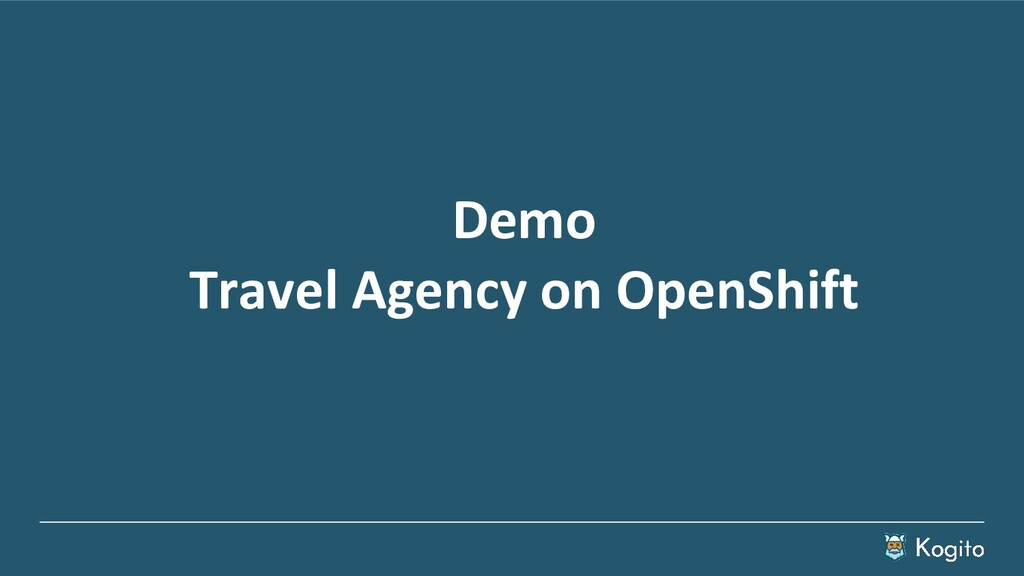 Demo Travel Agency on OpenShift