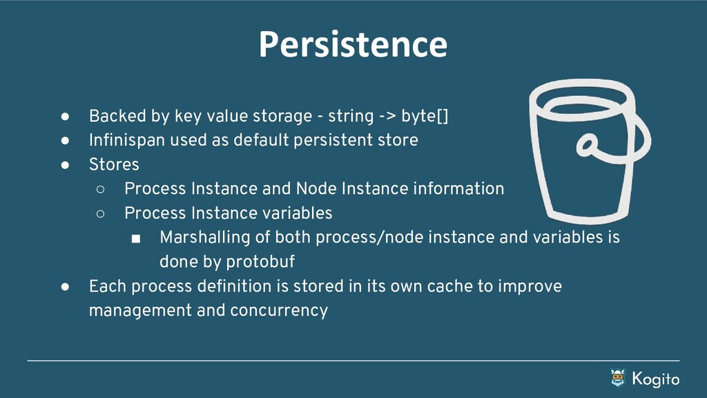 Persistence ● Backed by key value storage - str...