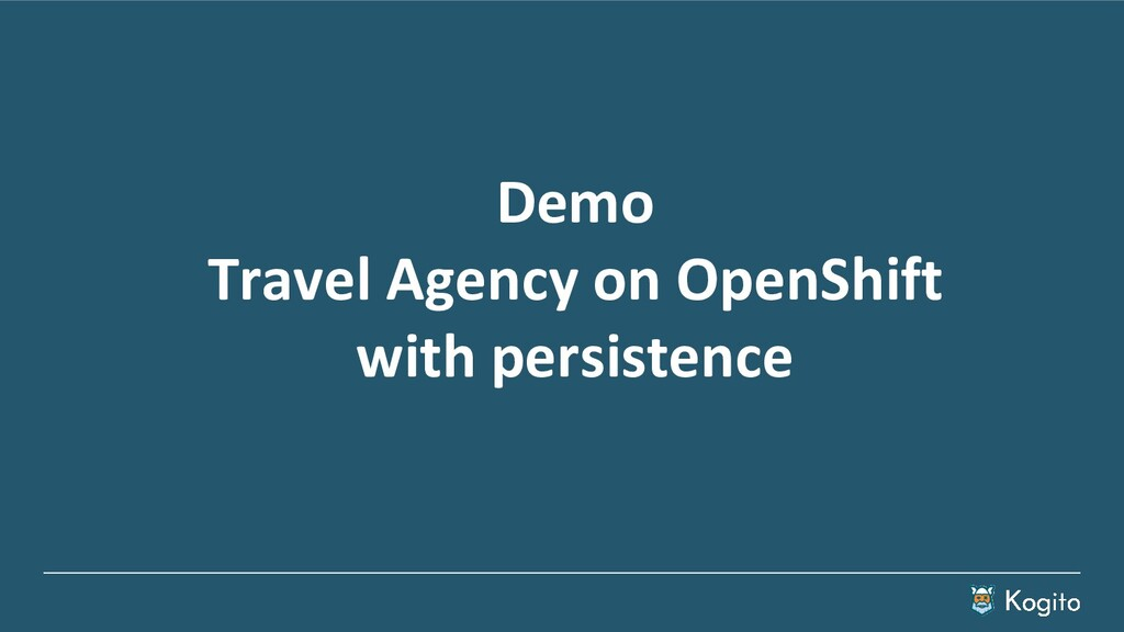Demo Travel Agency on OpenShift with persistence