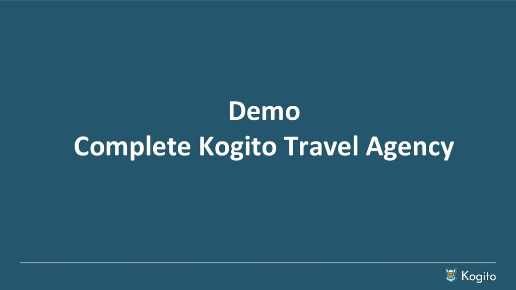 Demo Complete Kogito Travel Agency