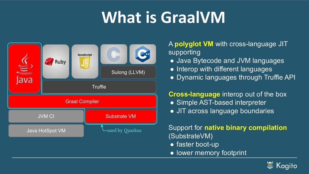 What is GraalVM A polyglot VM with cross-langua...
